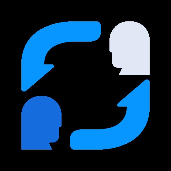 people exchange icon
